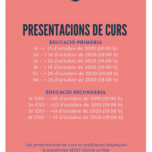 PRESENTACIONS DE CURS