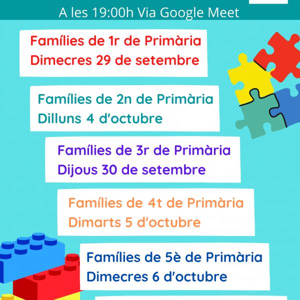 Reunions Inici de Curs Educació Primària