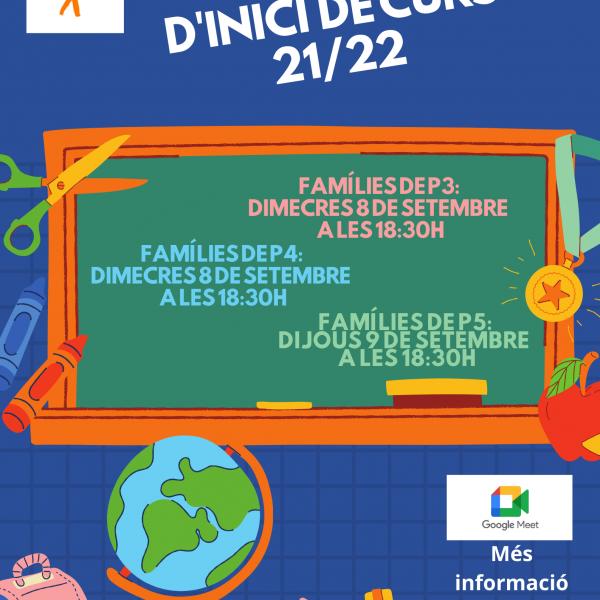 Reunions Inici de Curs Educació Infantil